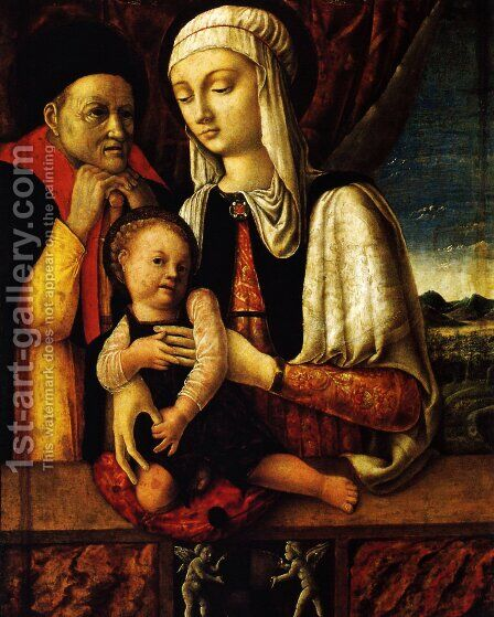 The Holy Family 2 by Andrea Mantegna - Reproduction Oil Painting