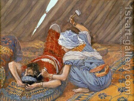 Jael Smote Sisera, and Slew Him by James Jacques Joseph Tissot - Reproduction Oil Painting