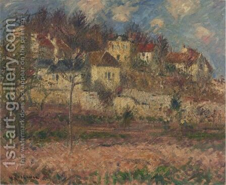 Village on the hill by Gustave Loiseau - Reproduction Oil Painting