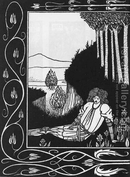 How King Mark and Sir Dinadan Heard Sir Palomides I by Aubrey Vincent Beardsley - Reproduction Oil Painting