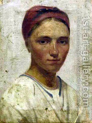 Portrait of a Peasant Girl by Aleksei Gavrilovich Venetsianov - Reproduction Oil Painting