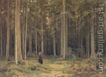 Countess Mordvinov's Forest by Ivan Shishkin - Reproduction Oil Painting