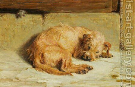 Watching Dog by Briton Rivière - Reproduction Oil Painting