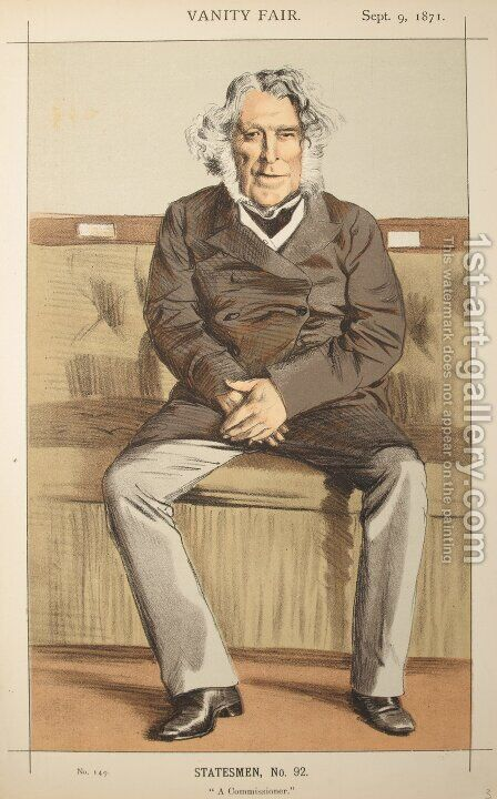 Statesmen No.920 Caricature of the Rt Hon Russell Gurney by James Jacques Joseph Tissot - Reproduction Oil Painting