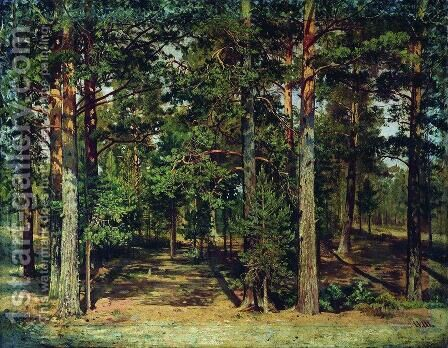 Pine forest 6 by Ivan Shishkin - Reproduction Oil Painting