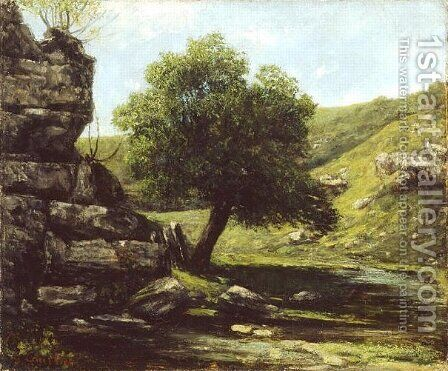 Landscape 4 by Gustave Courbet - Reproduction Oil Painting