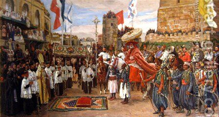 The Latin Patriarch of Jerusalem by James Jacques Joseph Tissot - Reproduction Oil Painting