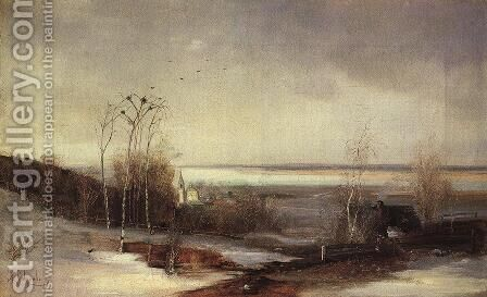 Early spring. Dali by Alexei Kondratyevich Savrasov - Reproduction Oil Painting