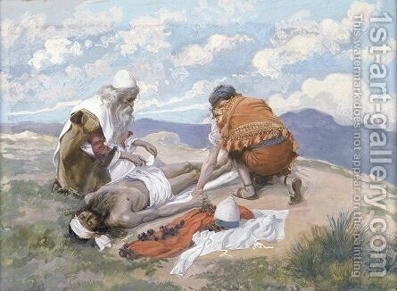 The Death of Aaron by James Jacques Joseph Tissot - Reproduction Oil Painting