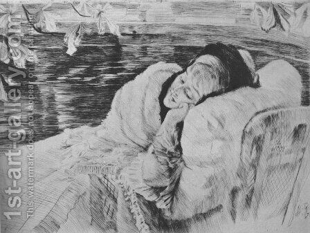 Convalescence by James Jacques Joseph Tissot - Reproduction Oil Painting