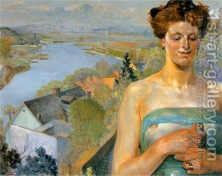 Spring by Jacek Malczewski - Reproduction Oil Painting