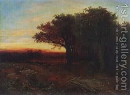 Sunset by Alexei Kondratyevich Savrasov - Reproduction Oil Painting
