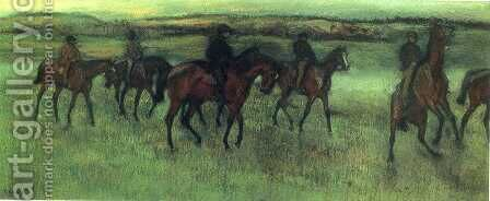 The Riders by Edgar Degas - Reproduction Oil Painting