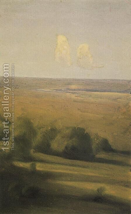 Evening in the steppe by Arkhip Ivanovich Kuindzhi - Reproduction Oil Painting