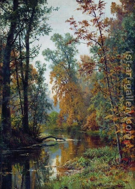 Autumn landscape. Park in Pavlovsk by Ivan Shishkin - Reproduction Oil Painting