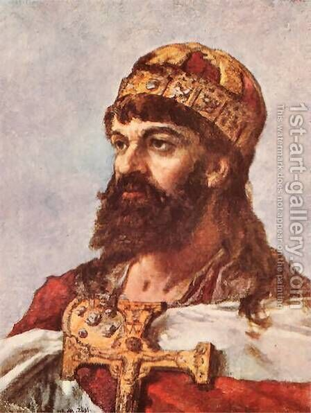 Mieszko I of Poland by Jan Matejko - Reproduction Oil Painting