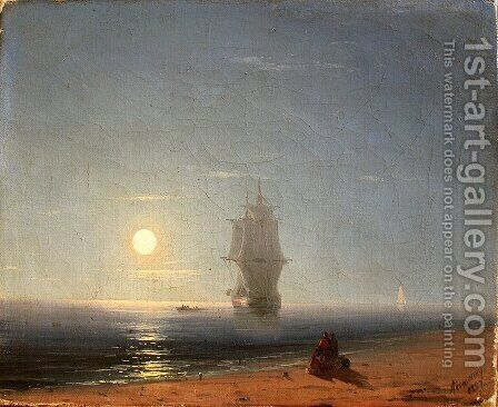 Lunar night by Ivan Konstantinovich Aivazovsky - Reproduction Oil Painting