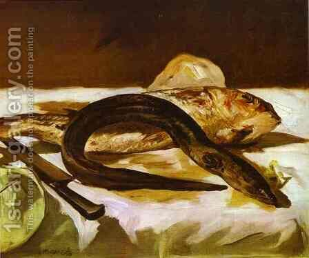 Eel and Red Mullet by Edouard Manet - Reproduction Oil Painting