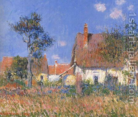 Houses in Normandy by Gustave Loiseau - Reproduction Oil Painting