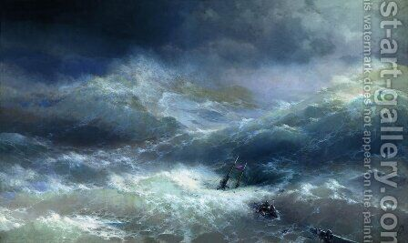 Wave 2 by Ivan Konstantinovich Aivazovsky - Reproduction Oil Painting
