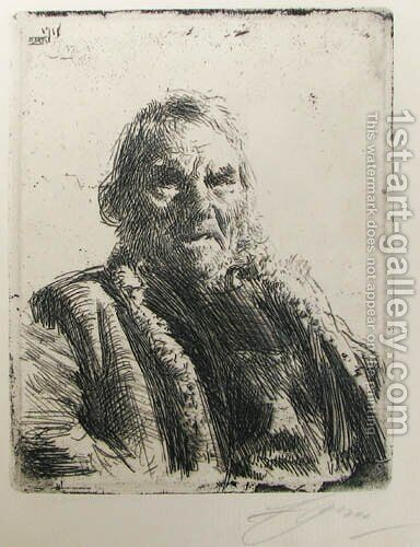Old soldier by Anders Zorn - Reproduction Oil Painting