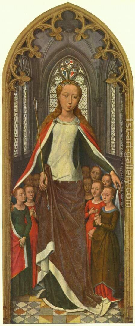 St. Ursula and her companions, from the Reliquary of St. Ursula by Hans Memling - Reproduction Oil Painting