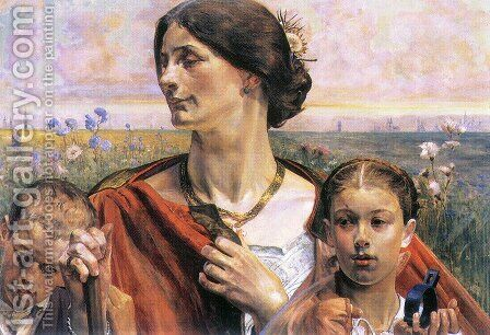 Country by Jacek Malczewski - Reproduction Oil Painting