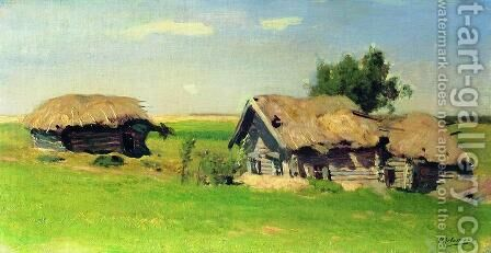 Landscape with isbas by Isaak Ilyich Levitan - Reproduction Oil Painting