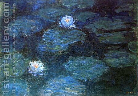 Water Lilies 51 by Claude Oscar Monet - Reproduction Oil Painting