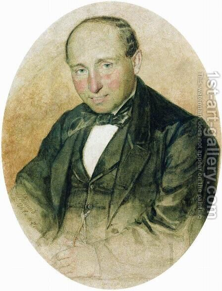 Portrait of Dr. G. Kostrov by Ilya Efimovich Efimovich Repin - Reproduction Oil Painting
