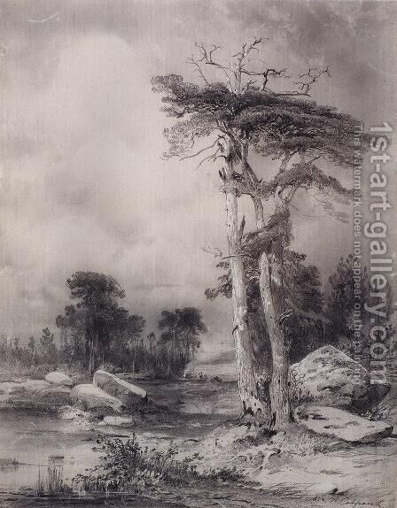 Old pine by Alexei Kondratyevich Savrasov - Reproduction Oil Painting