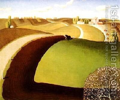 Spring Plowing by Grant Wood - Reproduction Oil Painting