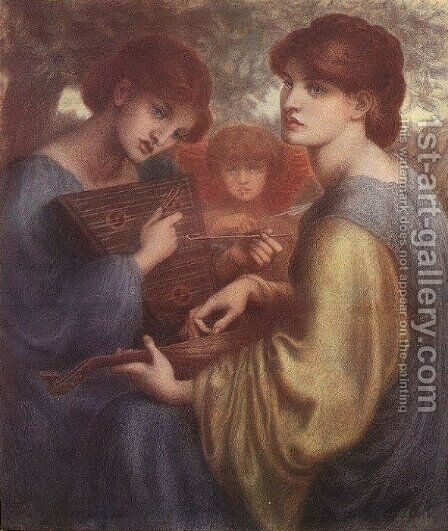 The Bower Meadow by Dante Gabriel Rossetti - Reproduction Oil Painting