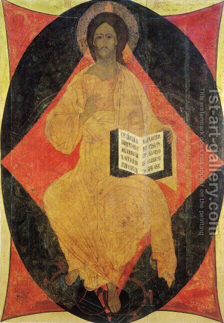Christ in Majesty by Andrei Rublev - Reproduction Oil Painting