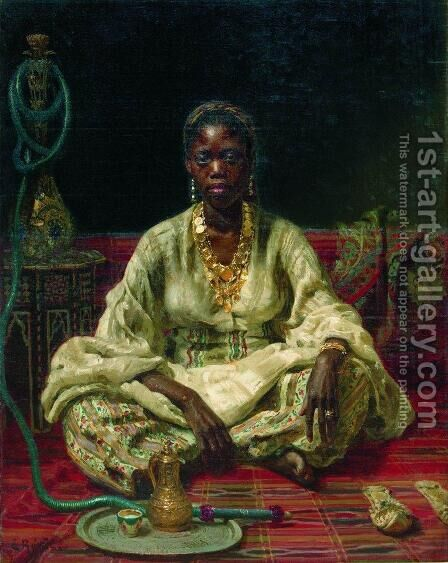 Negress 2 by Ilya Efimovich Efimovich Repin - Reproduction Oil Painting