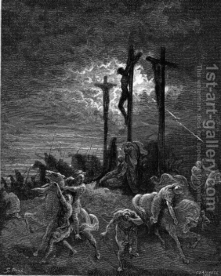 The Darkness At The Crucifixion by Gustave Dore - Reproduction Oil Painting