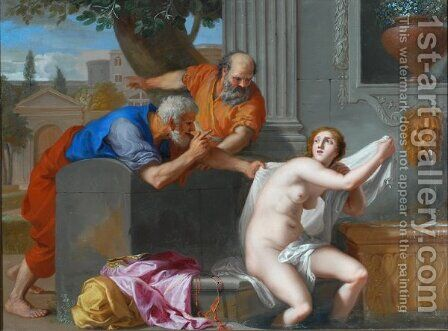 Susanna and the Elders by Jacques Stella - Reproduction Oil Painting