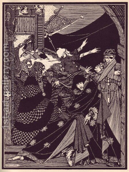 Tales of Mystery and Imagination by Edgar Allan Poe 11 by Harry Clarke - Reproduction Oil Painting