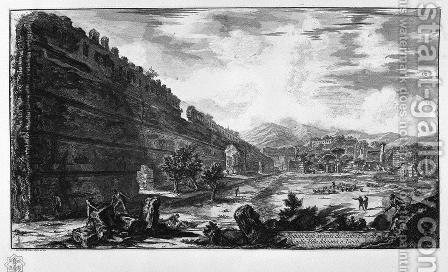 View the remains of the Praetorian Castro at Villa Adriana in Tivoli by Giovanni Battista Piranesi - Reproduction Oil Painting