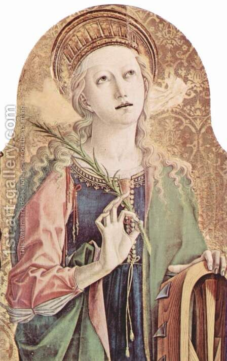 Saint Catherine of Alexandria by Carlo Crivelli - Reproduction Oil Painting