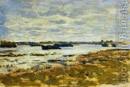 Gray day. The swamp. by Isaak Ilyich Levitan - Reproduction Oil Painting