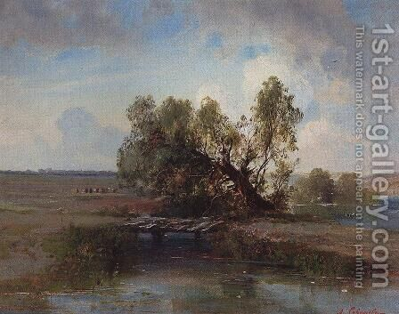 After the storm by Alexei Kondratyevich Savrasov - Reproduction Oil Painting