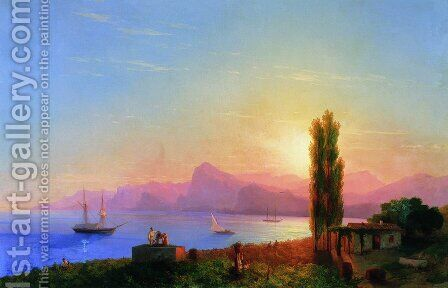 Sunset at Sea 4 by Ivan Konstantinovich Aivazovsky - Reproduction Oil Painting