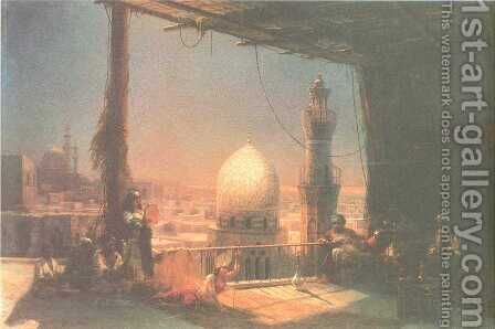 In Cairo by Ivan Konstantinovich Aivazovsky - Reproduction Oil Painting
