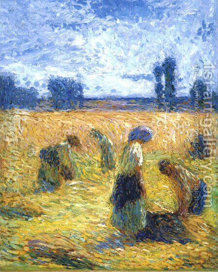 The Harvest 2 by Henri Martin - Reproduction Oil Painting