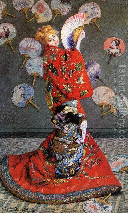 Japan's (Camille Monet in Japanese Costume) by Claude Oscar Monet - Reproduction Oil Painting