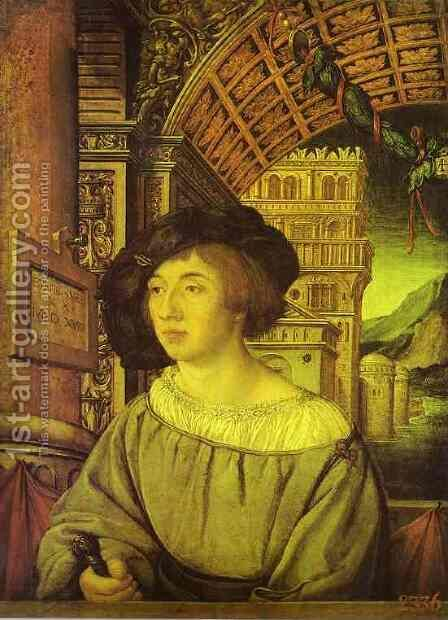 Portrait of a Young Man 2 by Hans, the Younger Holbein - Reproduction Oil Painting