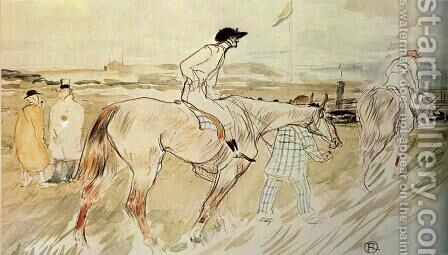 Is it Enough to Want Something Passionately ( The Good Jockey ) by Toulouse-Lautrec - Reproduction Oil Painting