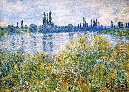Flowers on the Banks of Seine near Vetheuil by Claude Oscar Monet - Reproduction Oil Painting