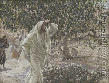 The Accursed Fig Tree by James Jacques Joseph Tissot - Reproduction Oil Painting